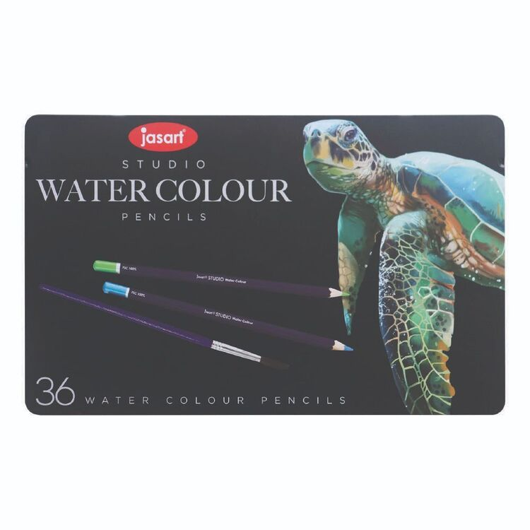 Jasart Studio 36 Pack Water Colour Pencil Tin