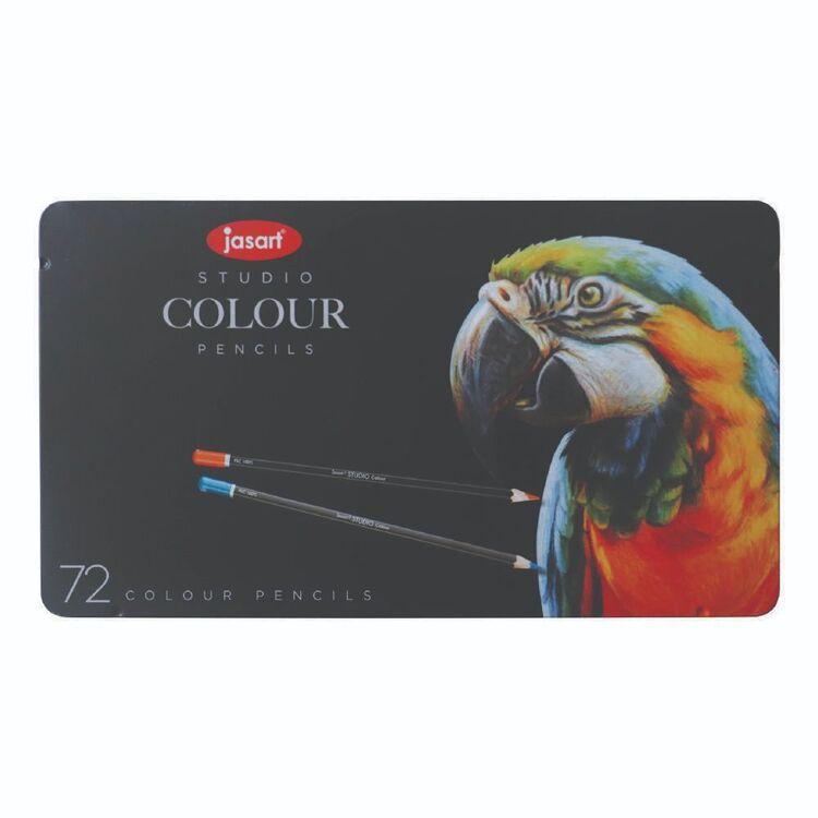 Jasart Studio 72 Pack Colour Pencil Tin