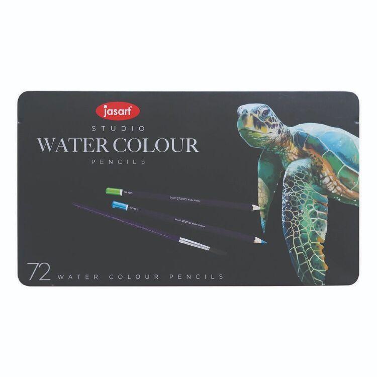Jasart Studio 72 Pack Water Colour Pencil Tin