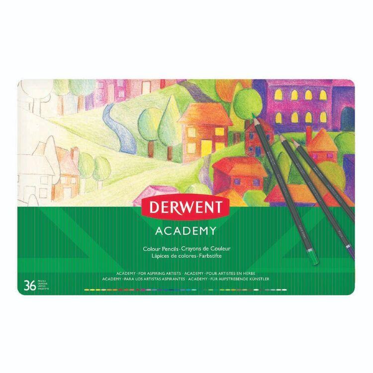 Derwent Academy 36 Pack Colour Pencil Tin