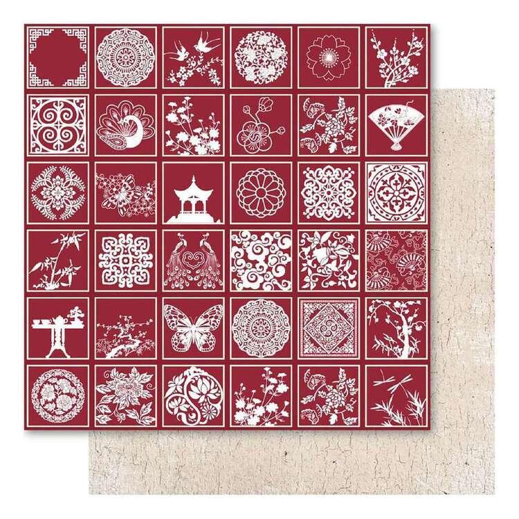 Ruby Rock-It Oriental Chic Red Misc Foil Paper