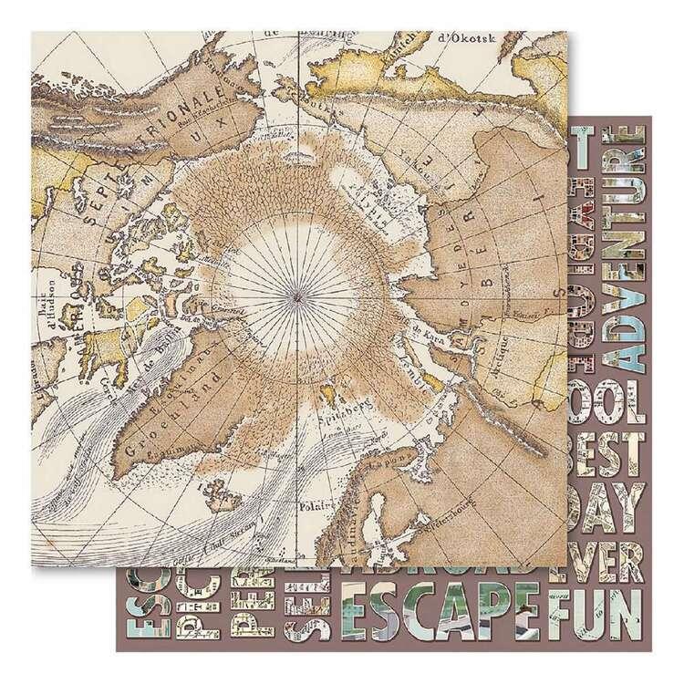 Bella! Wanderlust: World Map Cardstock