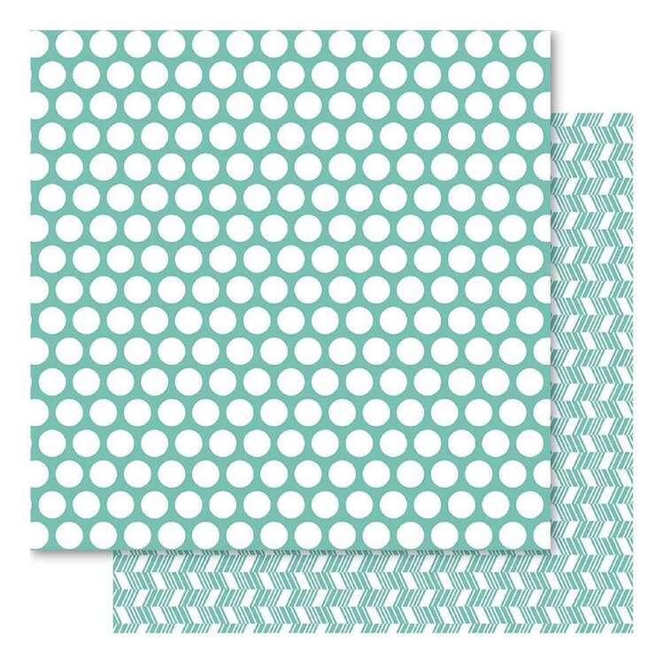 Bella! Teal Fusion Spotted Cardstock