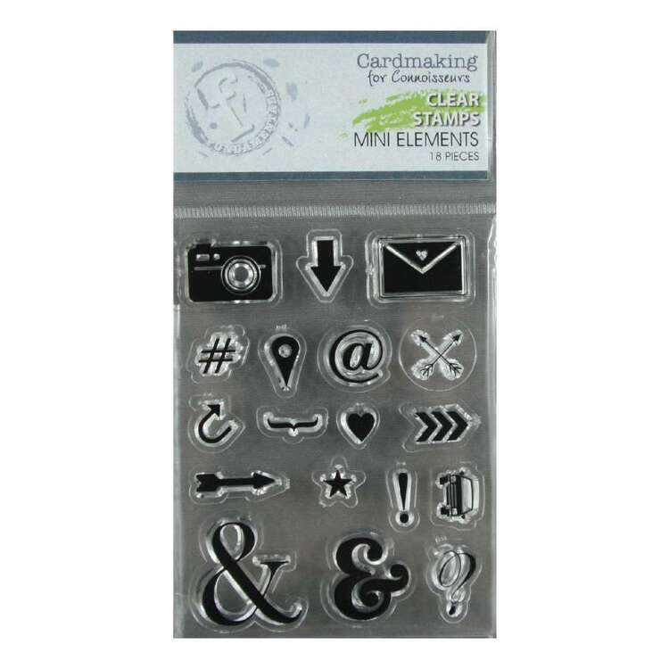 Fundamentals Mini Elements Clear Stamps Set