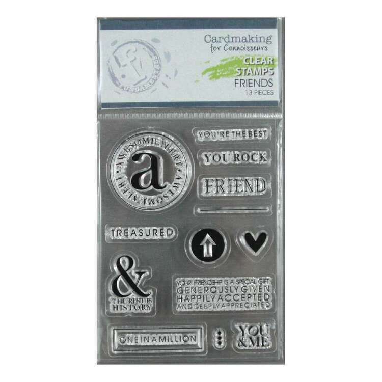 Fundamentals Friends Clear Stamps Set