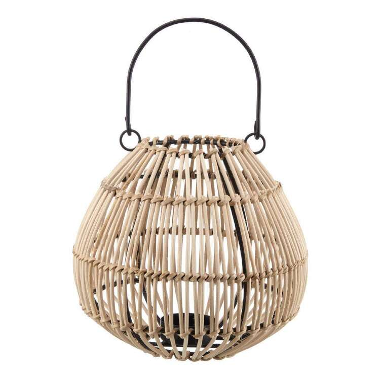 Bouclair Japandi Rattan Lantern Ball Candle Holder