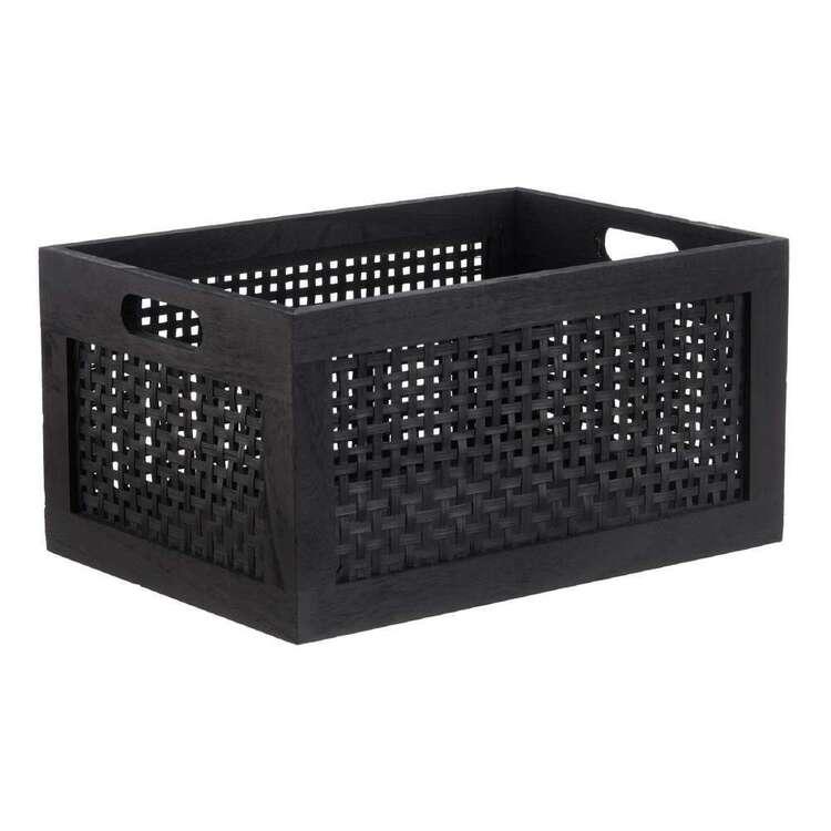 Bouclair Japandi Medium Pinewood Bamboo Crate