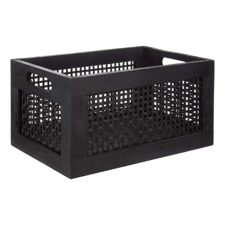 Bouclair Japandi Small Pinewood Bamboo Crate