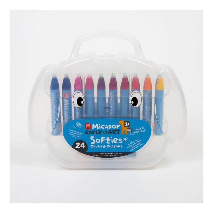 Micador Early stART Softies Tri-Grip Crayons 24 Pack