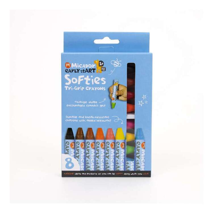Micador Early stART Softies Tri-Grip Crayons 8 Pack