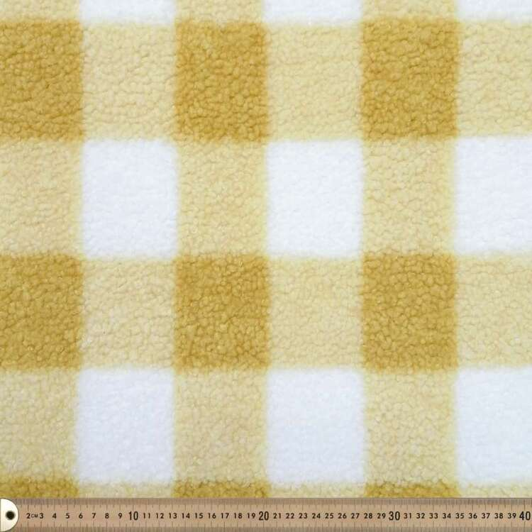 Harvest Checked Sherpa Faux Fur Fabric