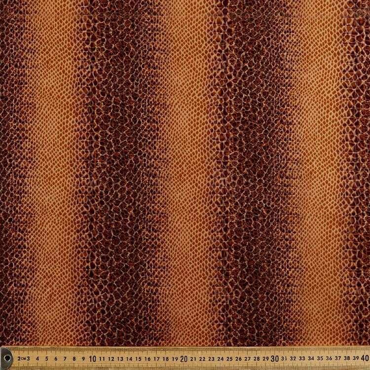 Crocodile Rock Printed 145 cm Polyester Elastane Pleather Fabric