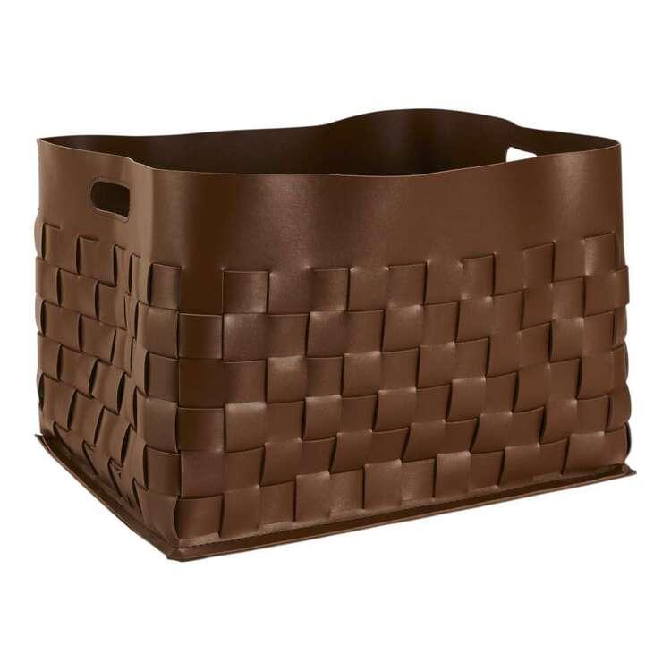 Living Space Pelle Faux Leather Cube Basket