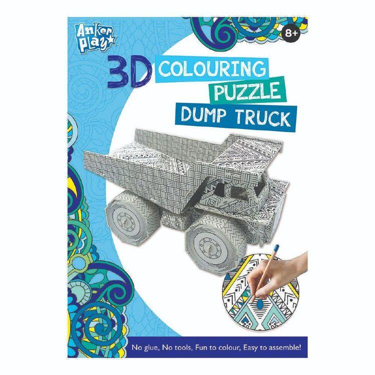 3D Colouring Dump Truck Puzzle