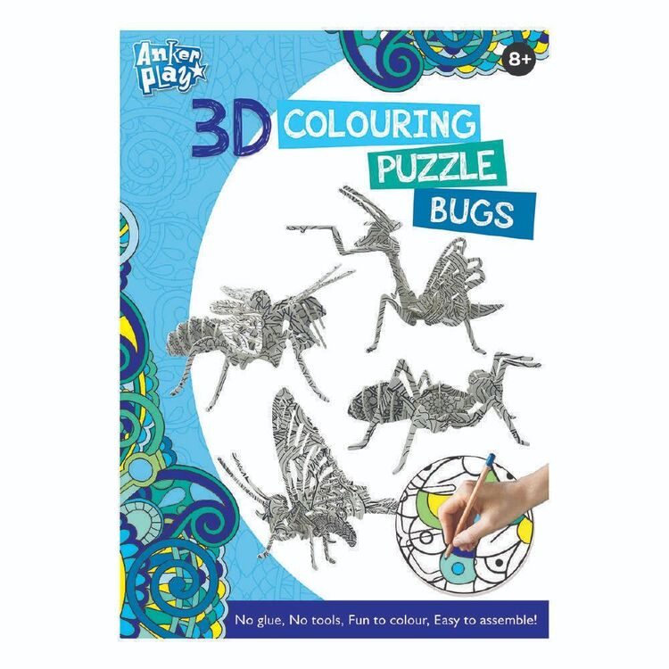 3D Colouring Bugs Puzzle