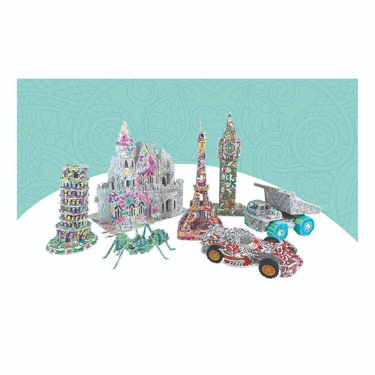 3D Colouring Leaning Tower Pisa Puzzle