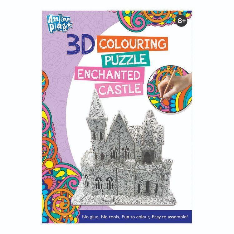 3D Colouring Enchanted Castle Puzzle