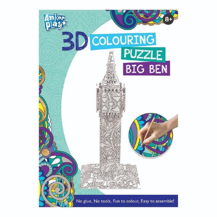 3D Colouring Big Ben Puzzle