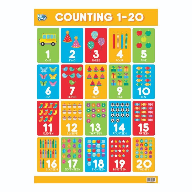 Educational Counting 1-20 Poster