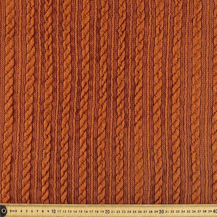 Plain 146 cm Cable Knit Fabric