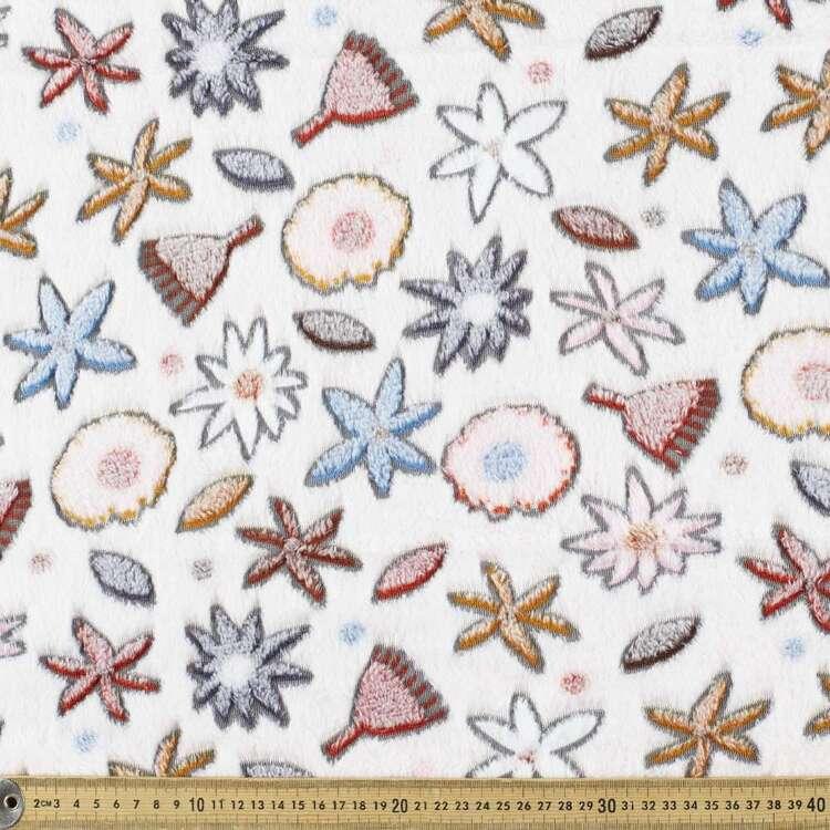 Jocelyn Proust Florals Printed 148 cm Burnout Polar Fleece Fabric