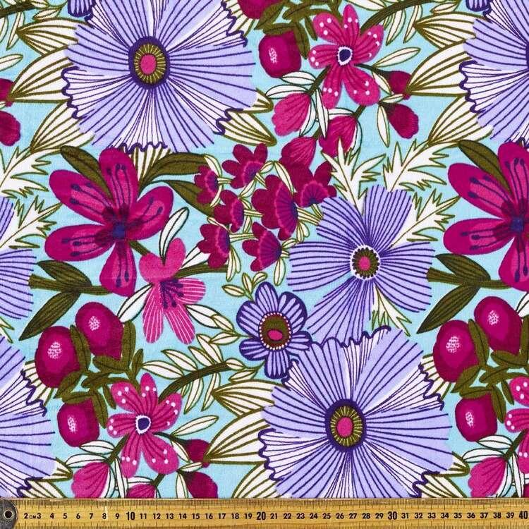 Kirsten Katz Garden Floral Printed 148 cm Minky Fleece Fabric