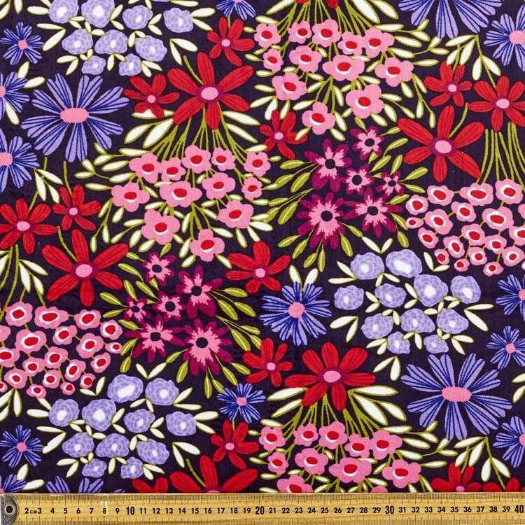 Kirsten Katz Ditsy Days Printed 148 cm Minky Fleece Fabric