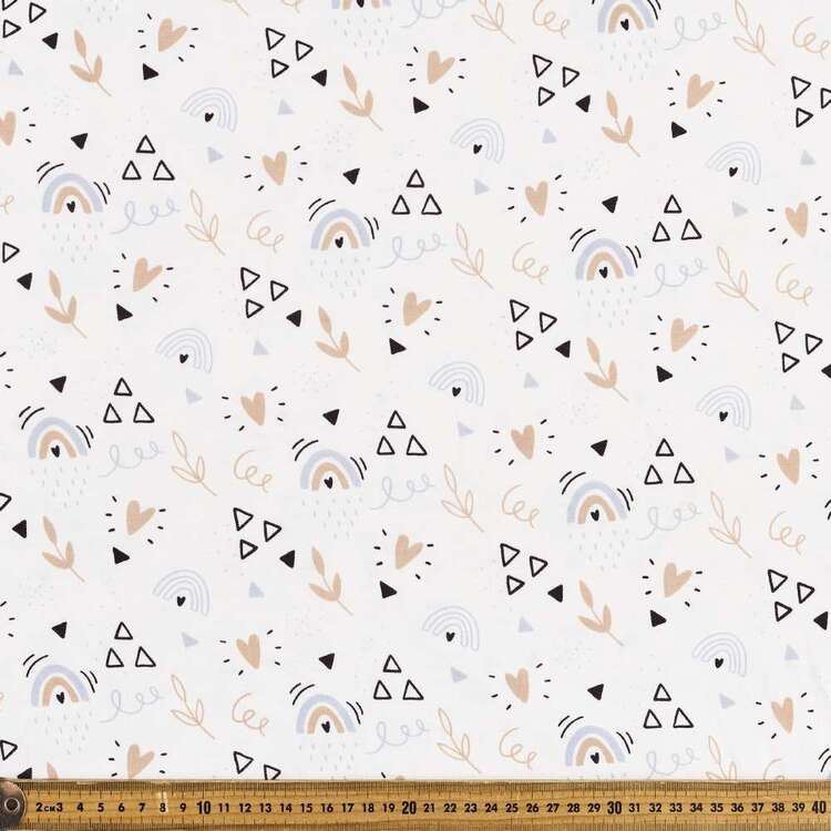 Dainty Shapes Printed 112 cm Organic Cotton Jersey Fabric