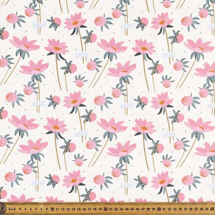 Flower Field Printed 112 cm Organic Cotton Jersey Fabric