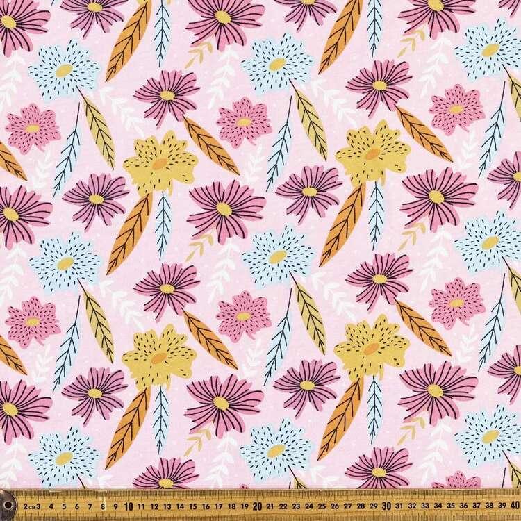 Pretty Petals Printed 112 cm Organic Cotton Jersey Fabric