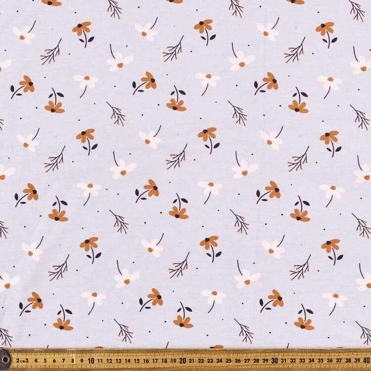 Tossed Daisy Printed 112 cm Organic Cotton Jersey Fabric