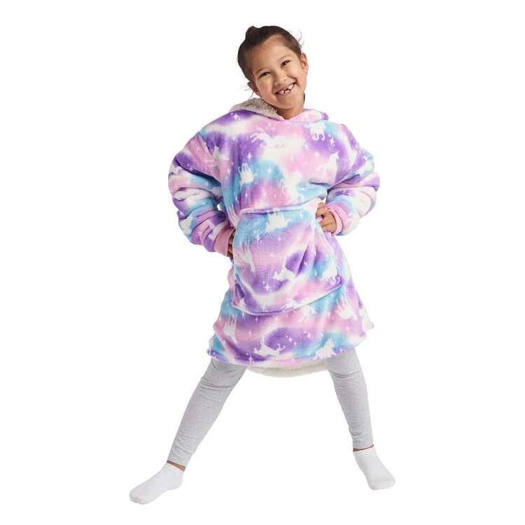 Kids House Hooded Unicorn Blanket