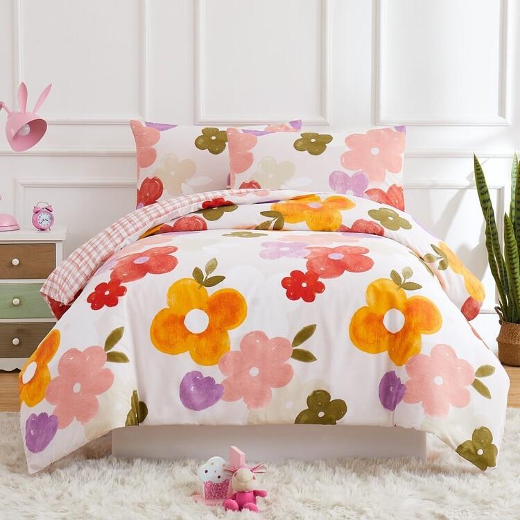 Kids House Isabel Washed Cotton Quilt Cover Set