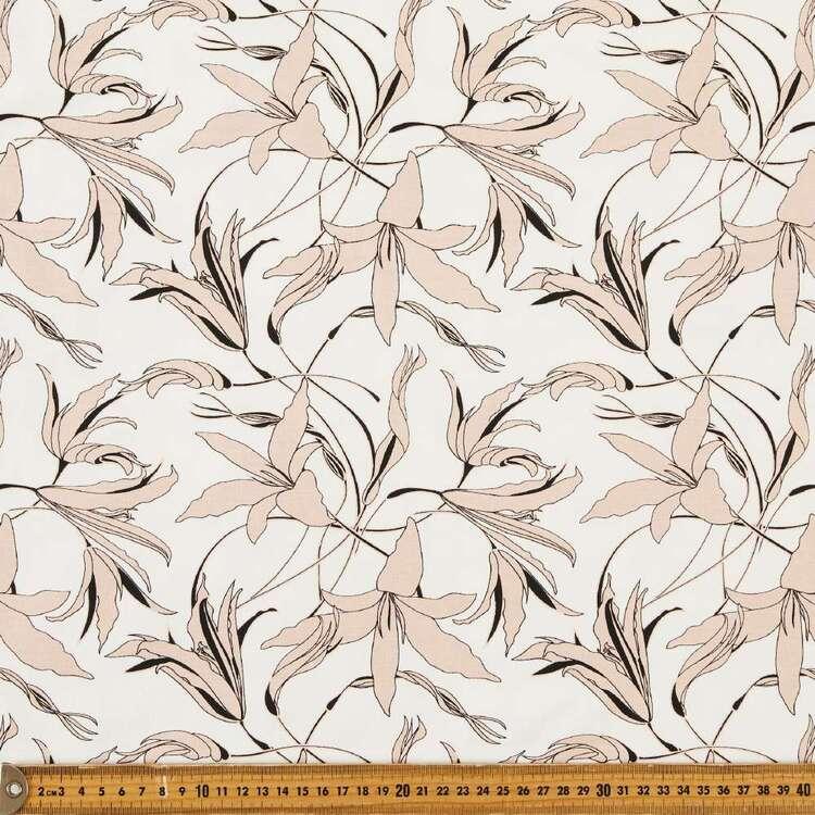 Soft Petals Printed 148 cm Cotton Spandex Fabric