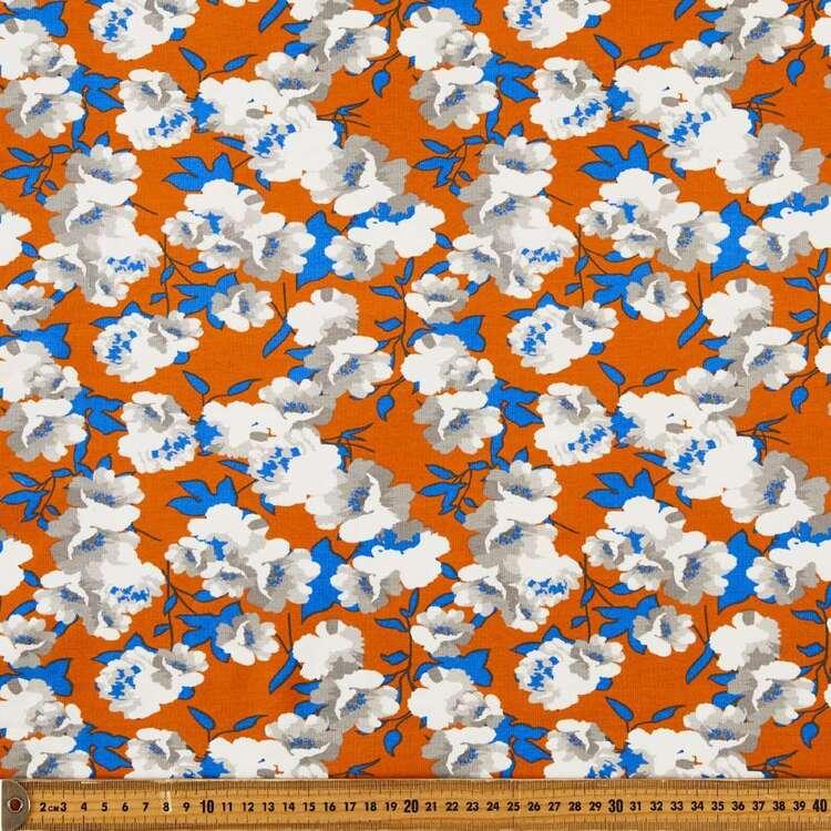 Pop Blooms Printed 148 cm Cotton Spandex Fabric
