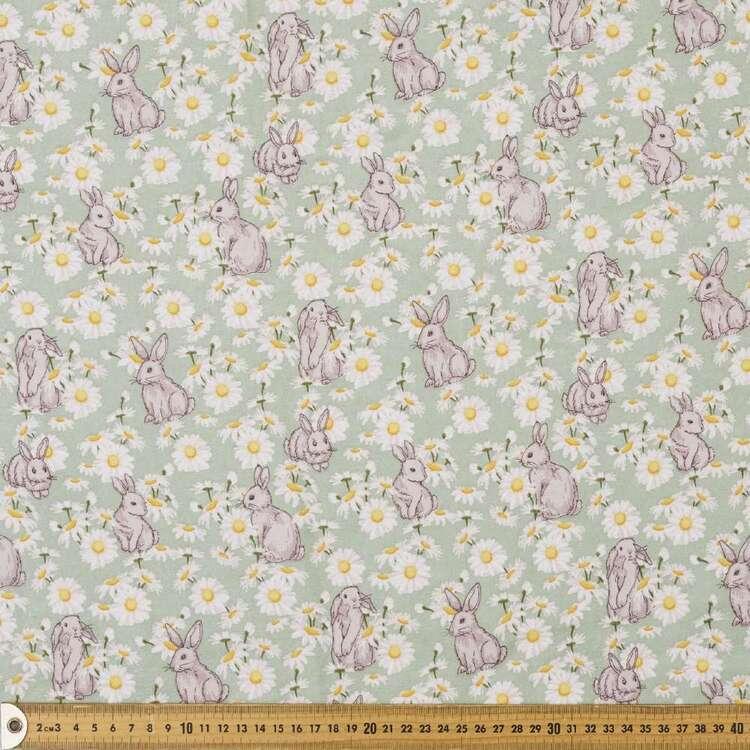 Lapin Printed 112 cm Cotton Flannelette Fabric