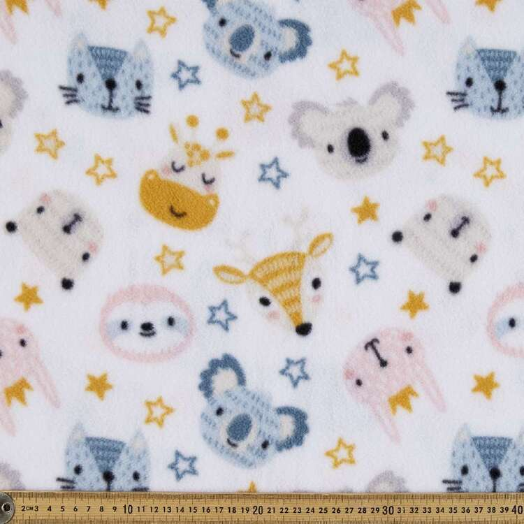 Baby Animal Printed 148 cm Polyester Husky Polar Fleece Fabric