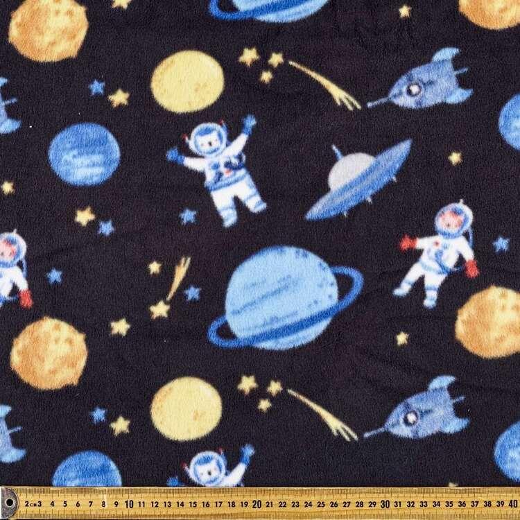 Space Discovery Printed 148 cm Polyester Husky Polar Fleece Fabric