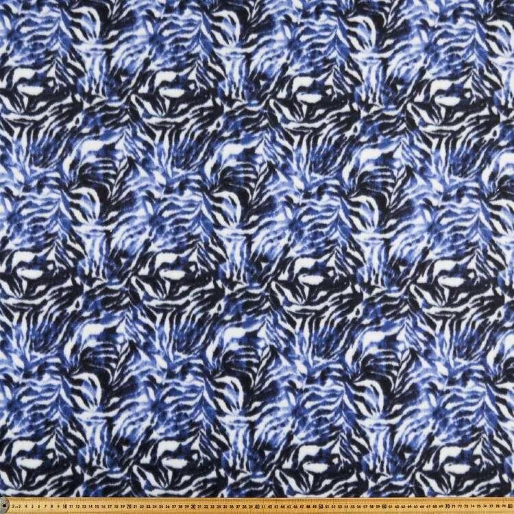 Zebra Printed 148 cm Peak Polar Fleece Fabric