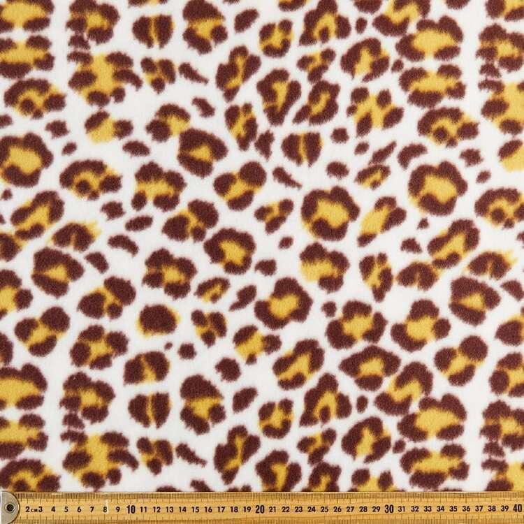 Leopard Printed 148 cm Peak Polar Fleece Fabric