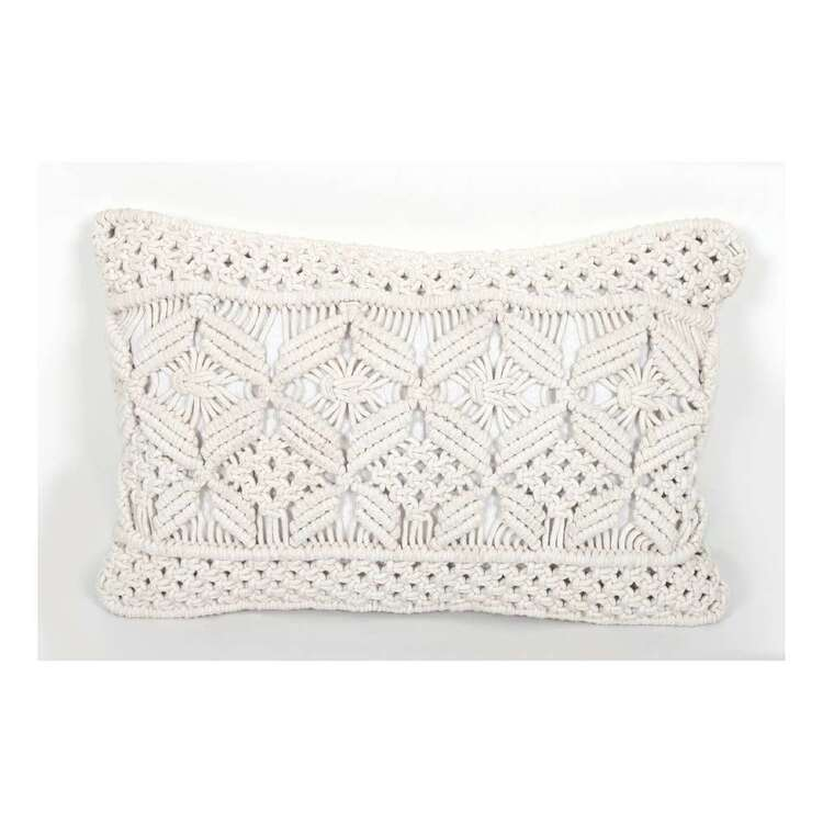 Ombre Home Bloom Fields Macrame Cushion