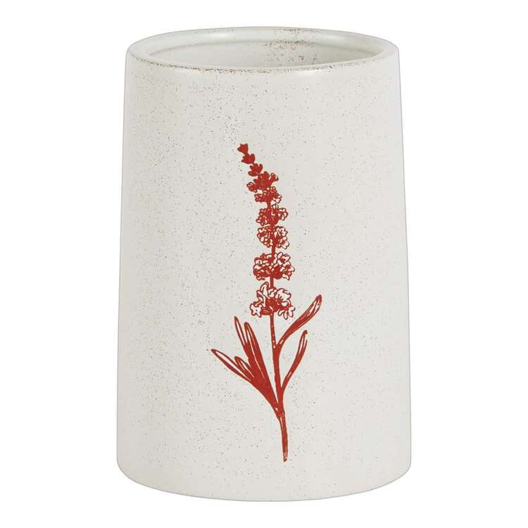 Living Space 9 x 12.8 cm Floral Print Candle Holder