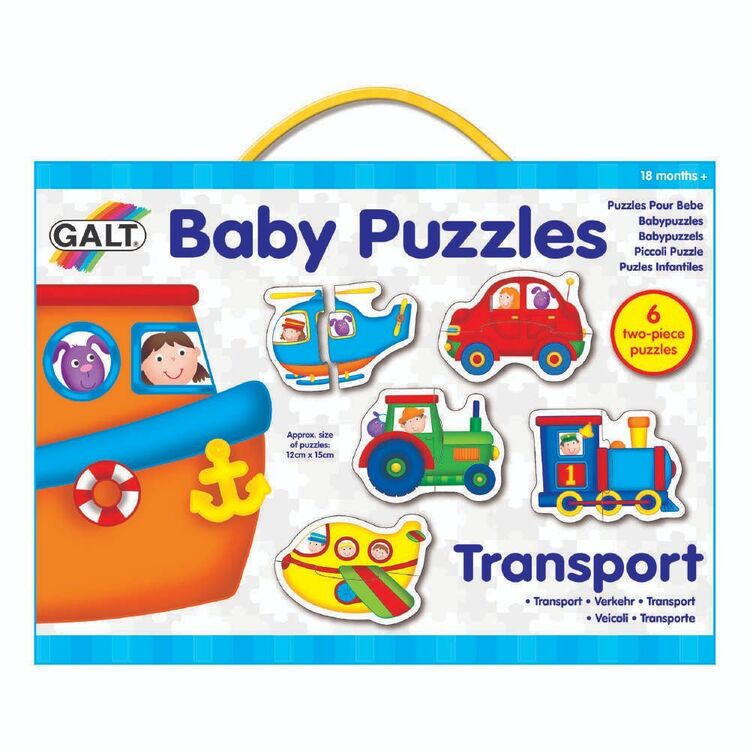 Galt 2 Pieces Transport Baby Puzzles