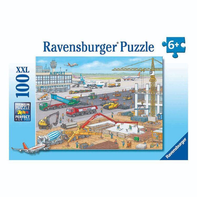 Ravensburger Airport Construction 100 Piece Puzzle
