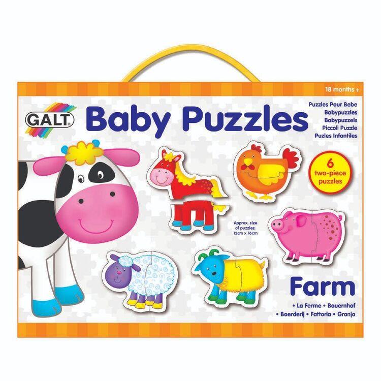 Galt 2 Pieces Farm Baby Puzzles