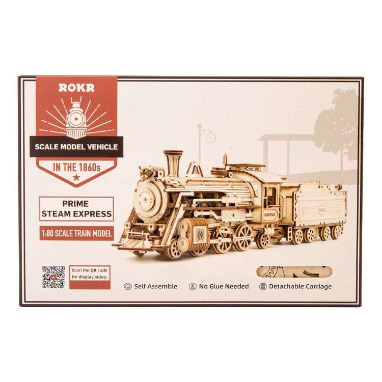 Robotime Prime Steam Express Scale Model