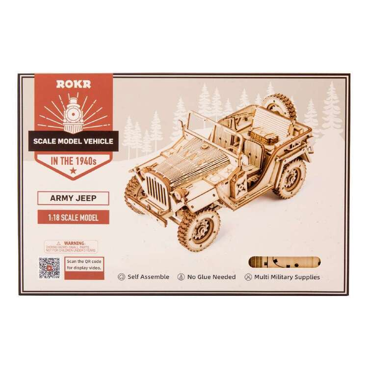 Robotime Army Field Car Scale Model
