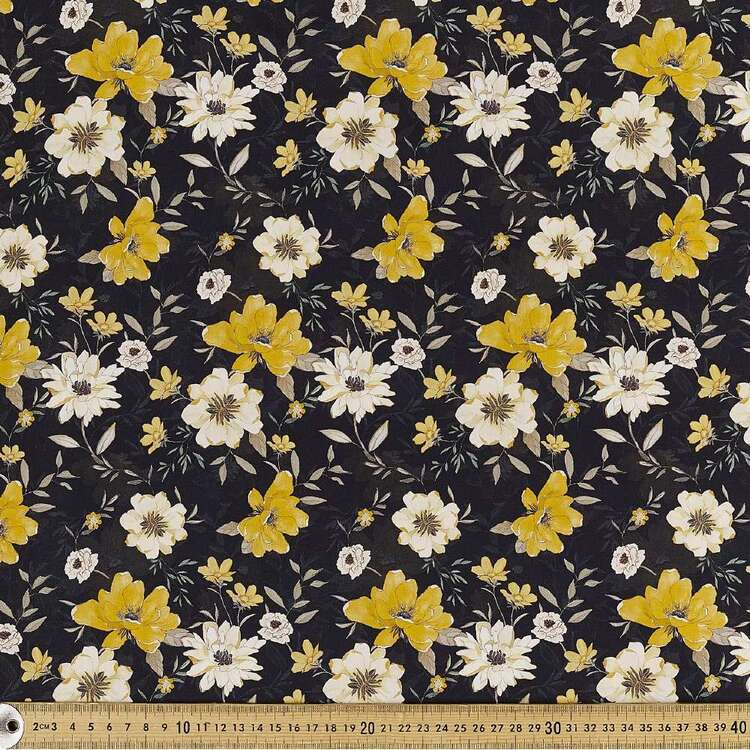 Flower Digital Printed 142 cm Combed Cotton Sateen Fabric