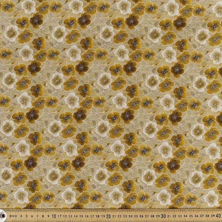 Poppy Digital Printed 142 cm Combed Cotton Sateen Fabric