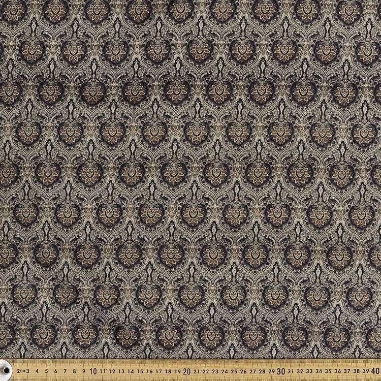 Emblem Digital Printed 142 cm Combed Cotton Sateen Fabric